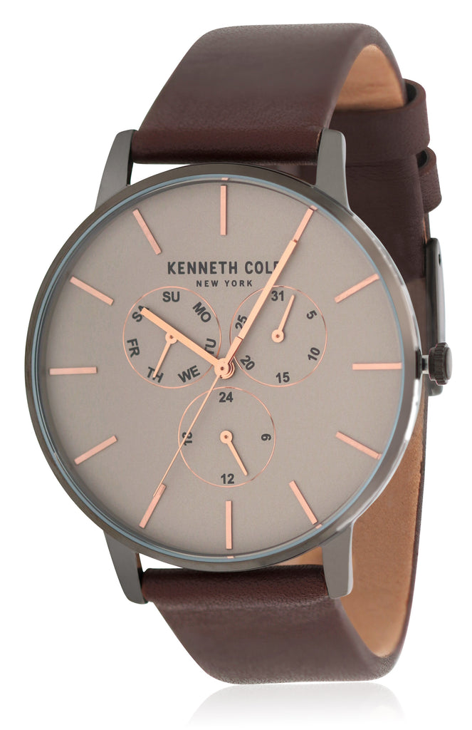 Kenneth Cole Leather Chronograph Mens Watch