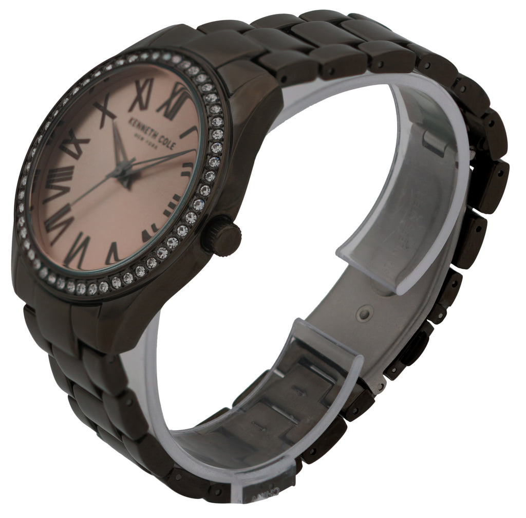 Kenneth Cole Black Stainless Steel Ladies Watch