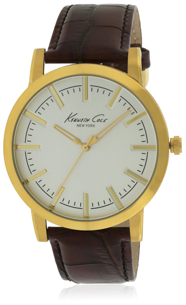 Kenneth Cole Slim Leather Mens Watch