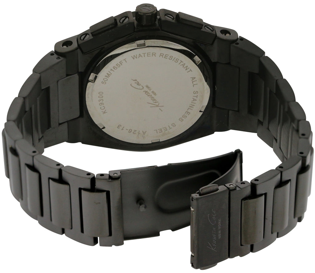 Kenneth Cole New York Black IP Chronograph Mens Watch