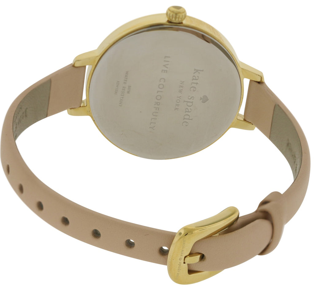 Kate Spade New York Metro Vachetta Leather Ladies Watch