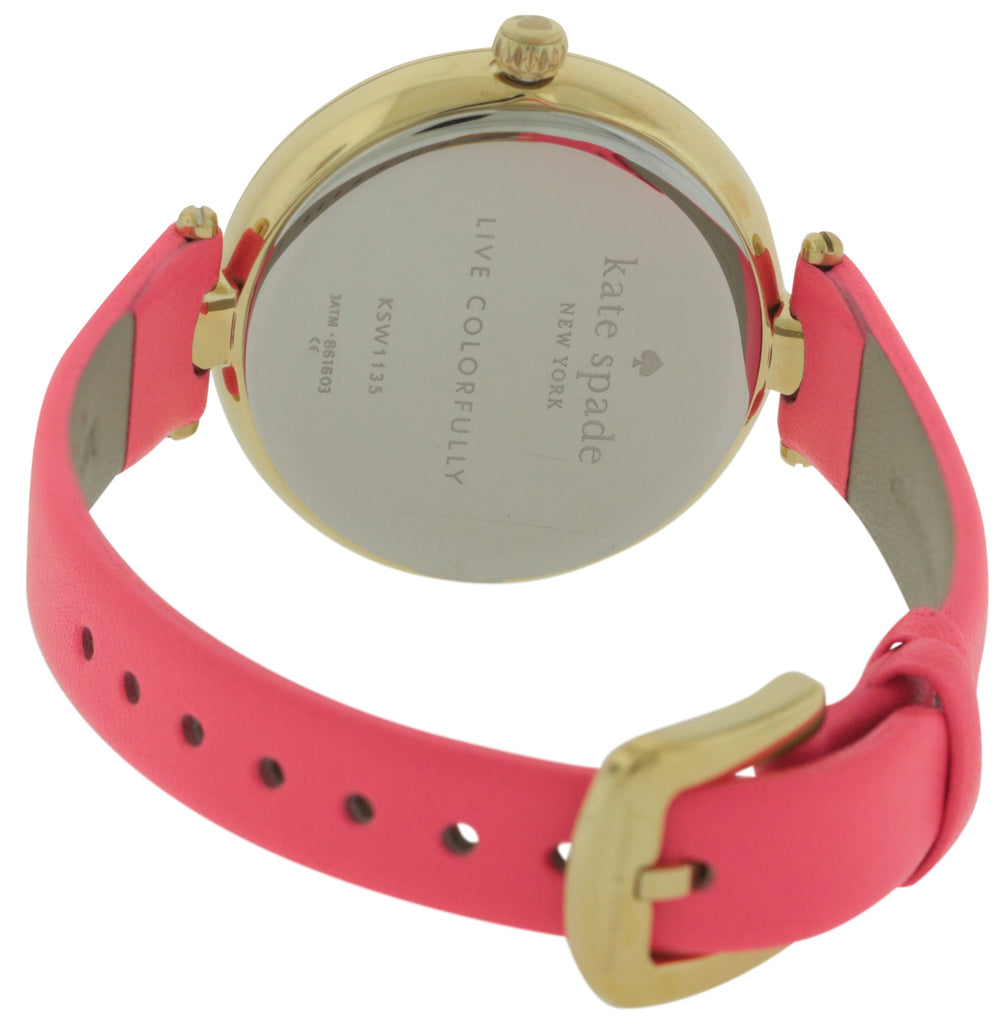 Kate Spade Neon Geranium Leather Ladies Watch