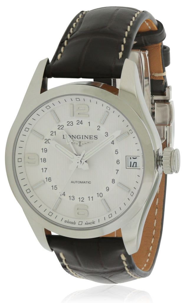 Longines Conquest Classic Leather Automatic Mens Watch