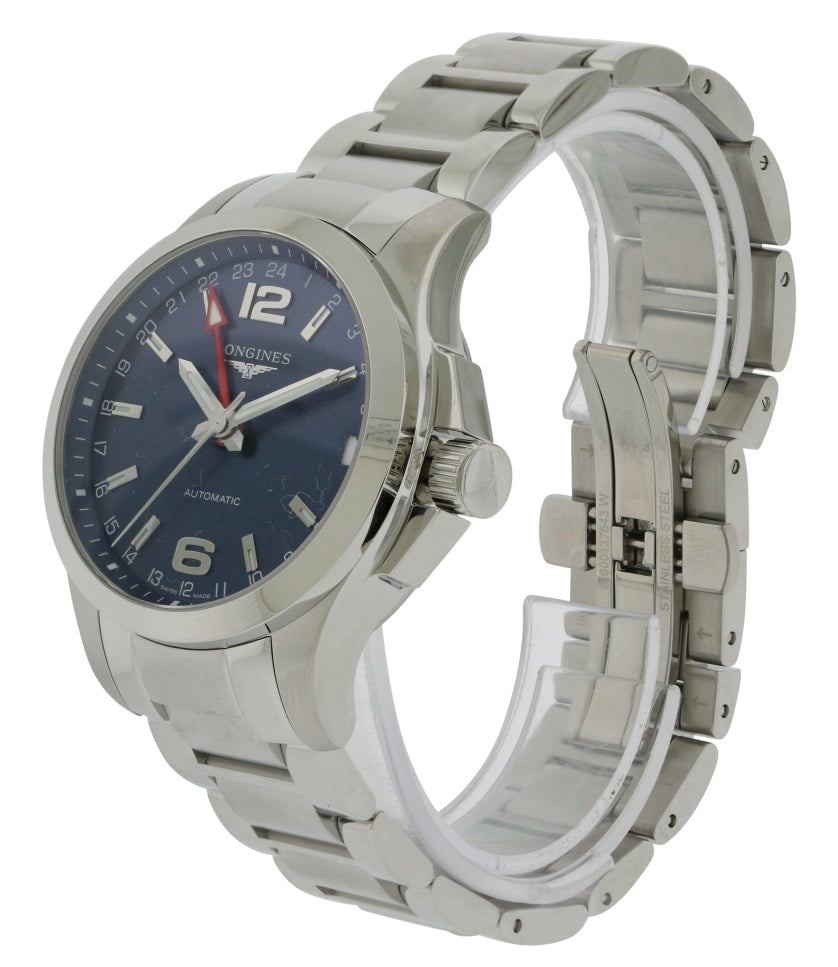 Longines Conqest GMT Automatic Mens Watch