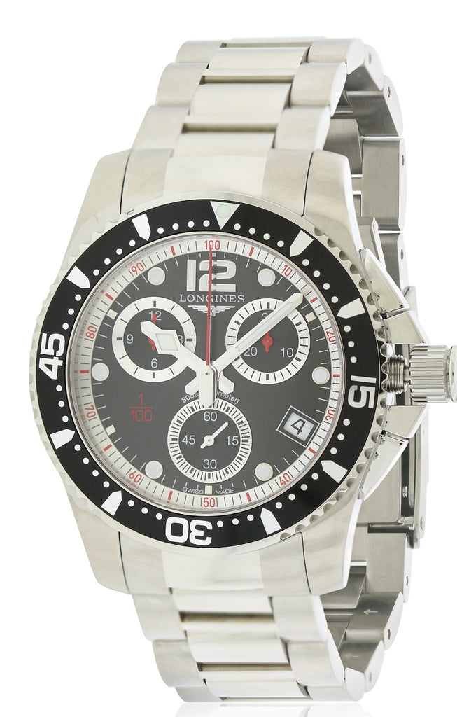 Longines HydroConquest Chronograph Stainless Steel Mens Watch