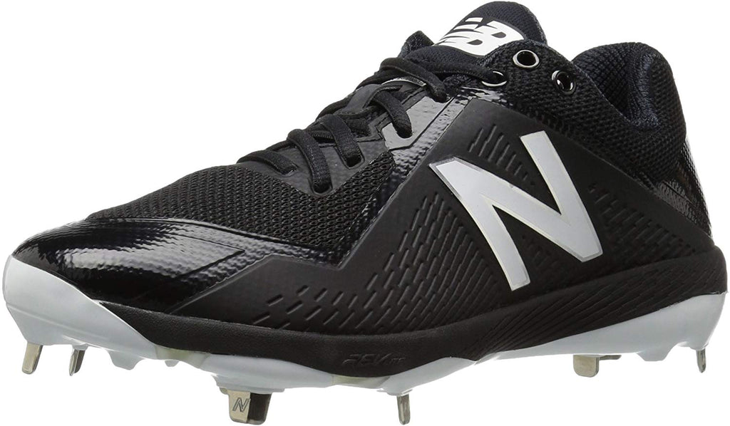 New Balance L4040v4 Metal Baseball Mens Shoe Sneaker - Black - Size 12.5