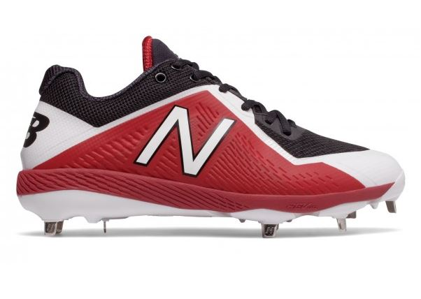 New Balance Mens Baseball Steel Spikes Sneakers Black/Red - Size 11