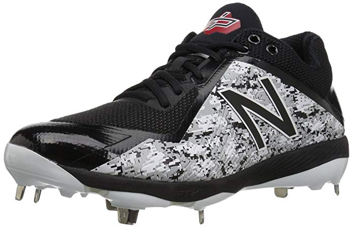 New Balance Mens 4040 V4 Pedroia Metal Baseball Cleats Black Camo - Size 10