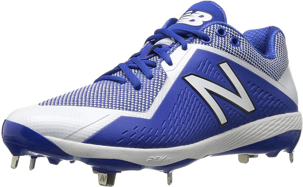New Balance Mens 4040 V4 Metal Synthetic Baseball Cleats Royal/White - Size 10.5
