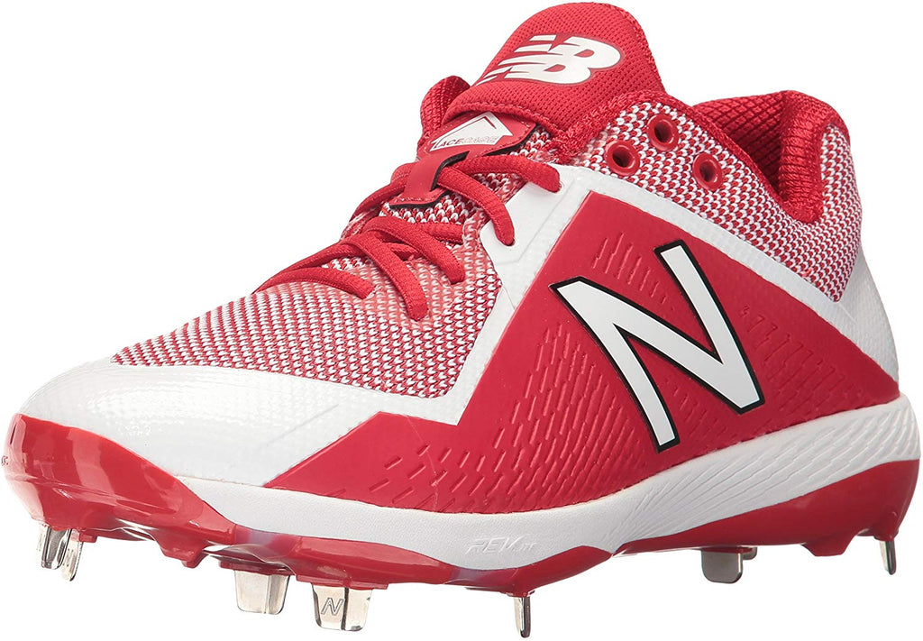 New Balance Mens 4040 V4 Metal Synthetic Baseball Cleats Navy/White - Size 10.5