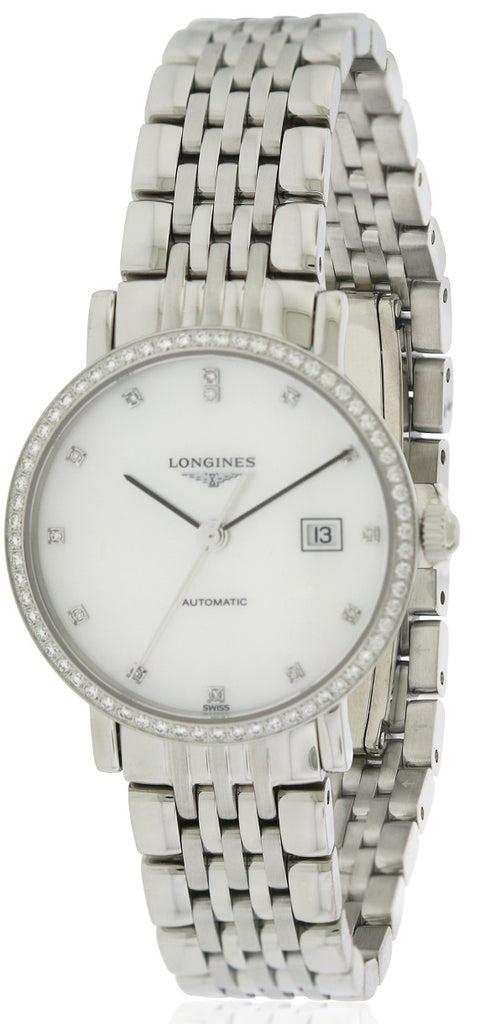 Longines Elegant Collection Stainless Steel Automatic Ladies Watch