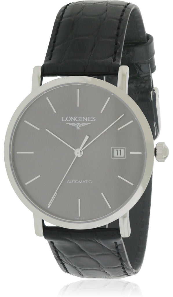 Longines Elegant Leather Automatic  Mens Watch