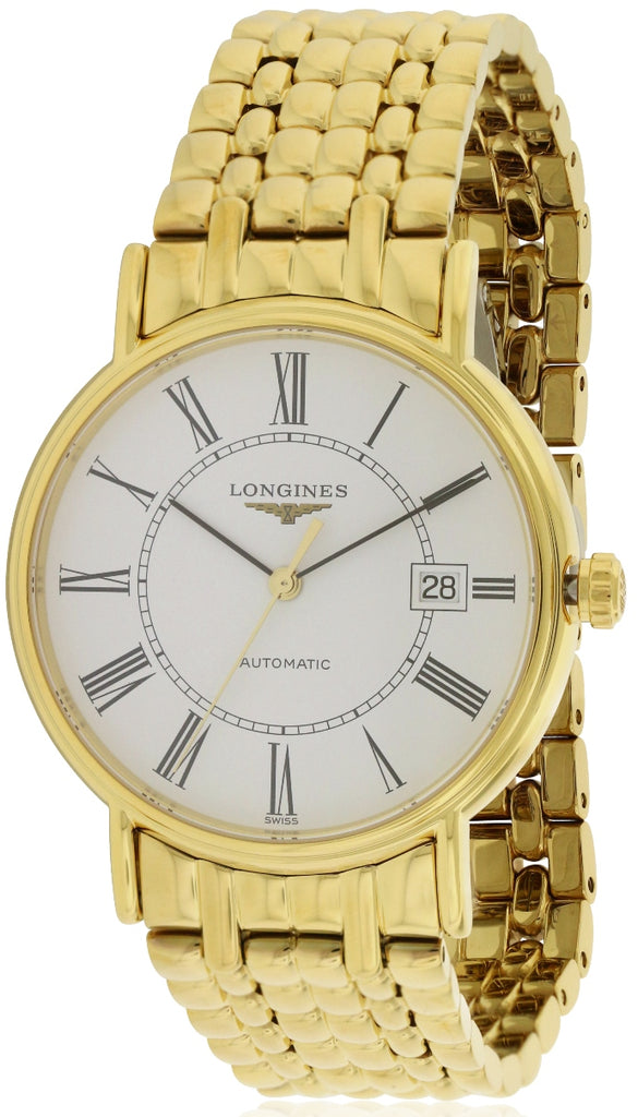 Longines Presence Gold-Tone Automatic Mens Watch