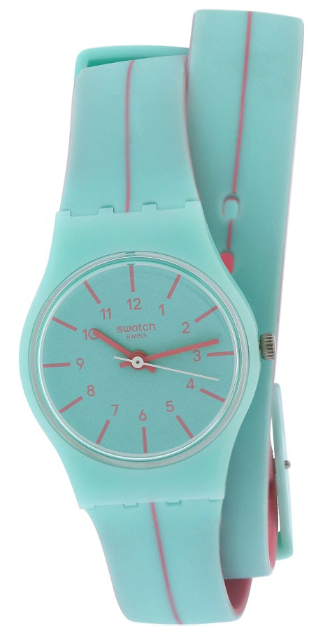 Swatch MENTHE A L EAU Silicone Ladies Watch