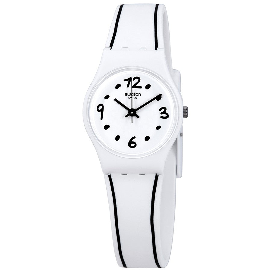 Swatch Black Border Ladies Watch