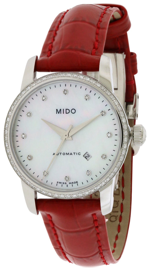Mido Baroncelli Leather Automatic Ladies Watch