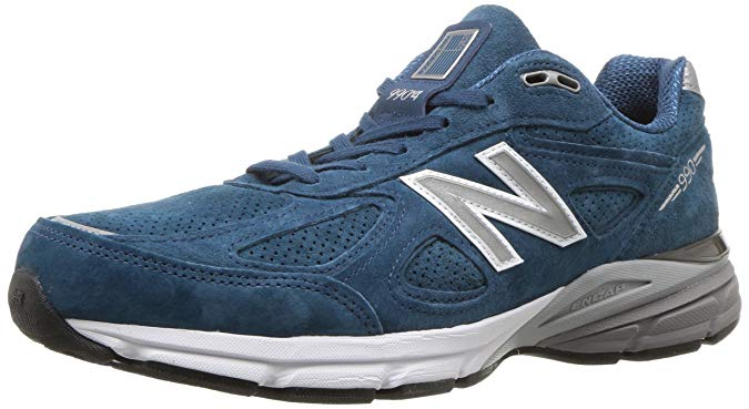 New Balance Mens 990v4 Running Shoe - North Sea/White 12 D