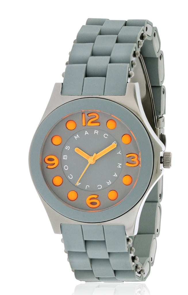 Marc by Marc Jacobs Pelly Silicone Gunmetal Ion Ladies Watch