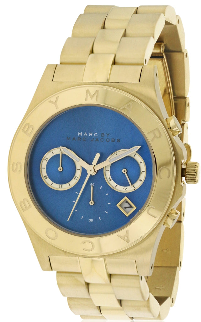 Marc by Marc Jacobs Blade Gold-Tone Chronograph Ladies Watch