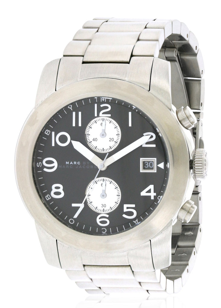 Marc by Marc Jacobs Larry Chronograph Stainless Steel Mens Watch