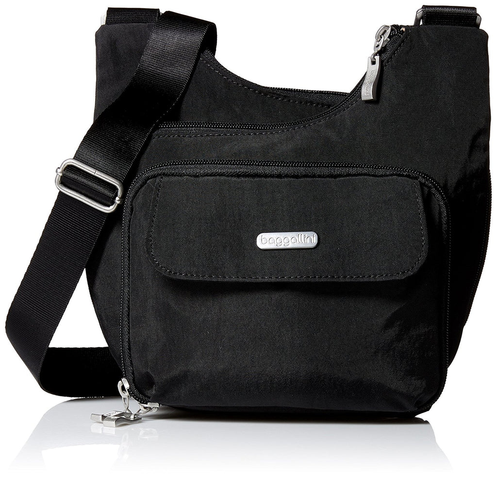 Baggallini Criss Cross Travel Crossbody Bag - Black -