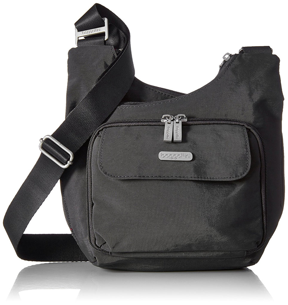 Baggallini Luggage Criss Cross Bag - Charcoal -