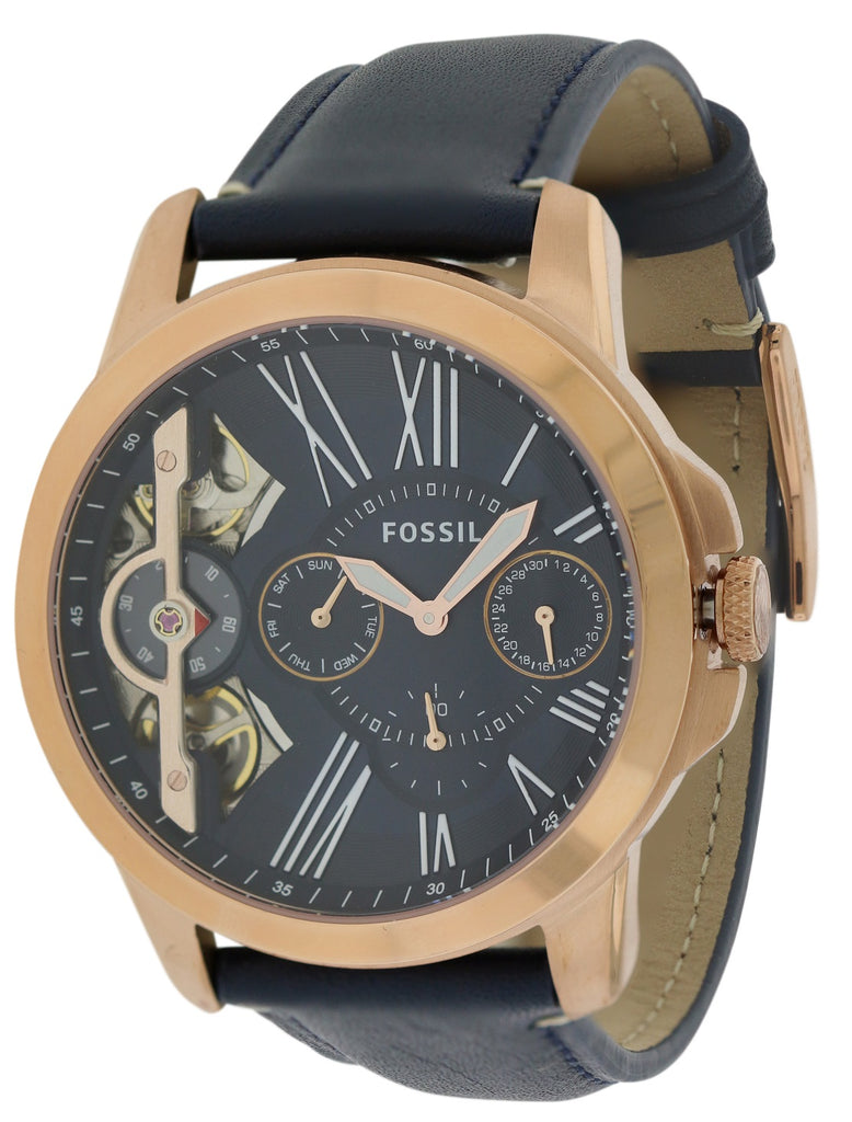 Fossil Grant Automatic Leather Mens Watch