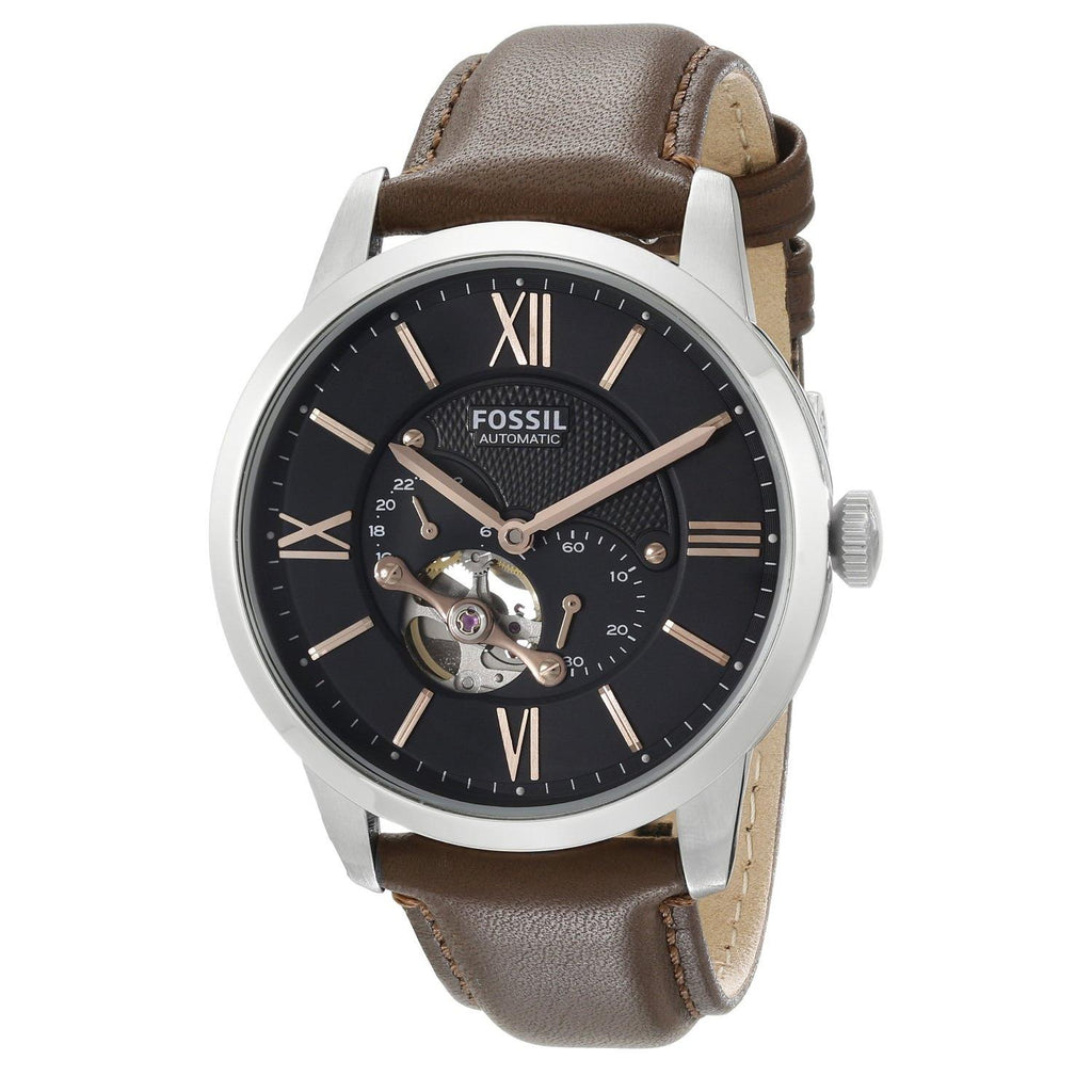 Fossil Townsman Mechanical Leather Mens Watch