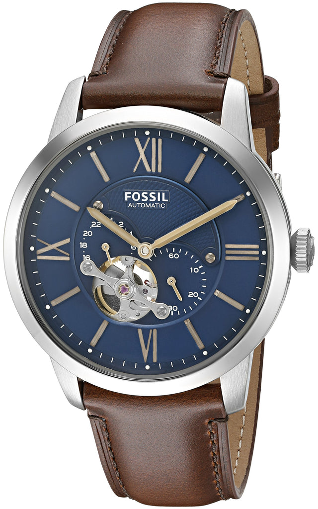 Fossil Townsman Automatic Leather Mens Watch