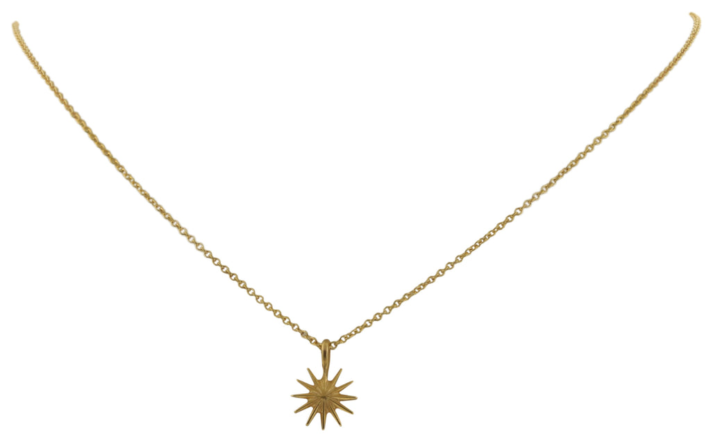 Dogeared Congratulations Gold Dipped Starburst Reminder Boxed Necklace -