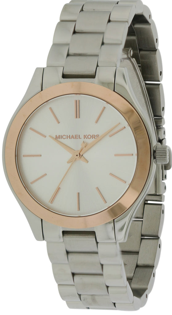 Michael Kors Mini Slim Runway Stainless Steel Ladies Watch