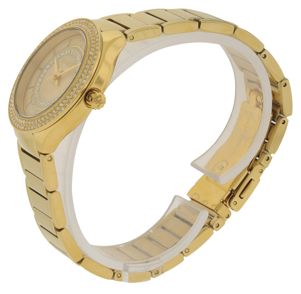 Michael Kors Mini Kerry Gold-Tone Stainless Steel Ladies Watch