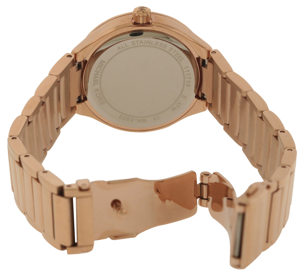 Michael Kors Mini Kerry Rose Gold-Tone Stainless Steel Ladies Watch
