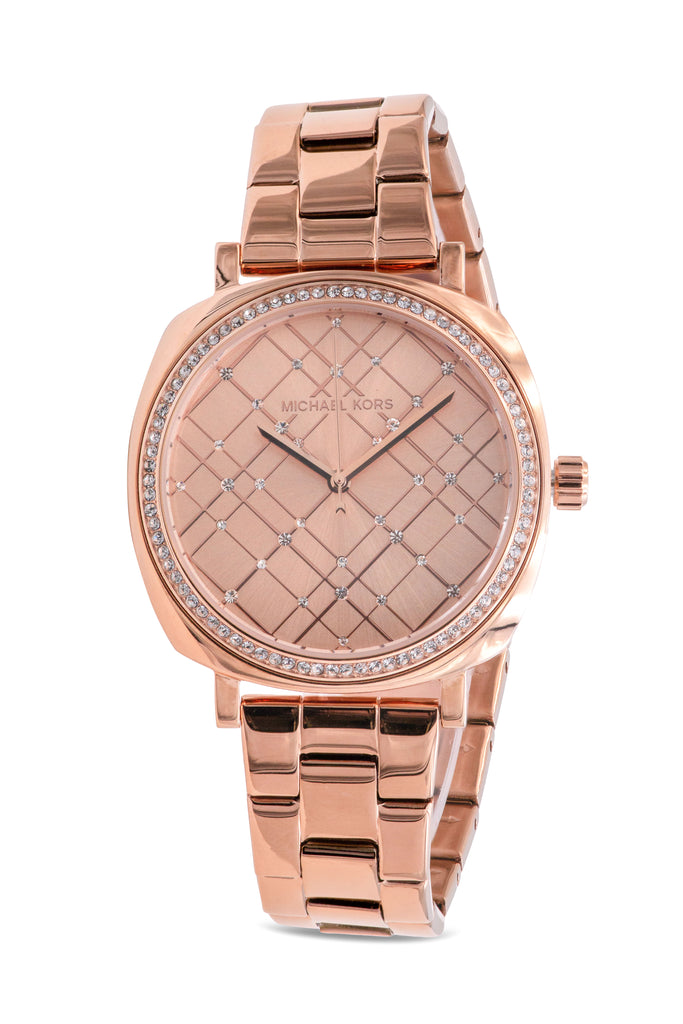 Michael Kors Nia Rose Gold-Tone Ladies Watch