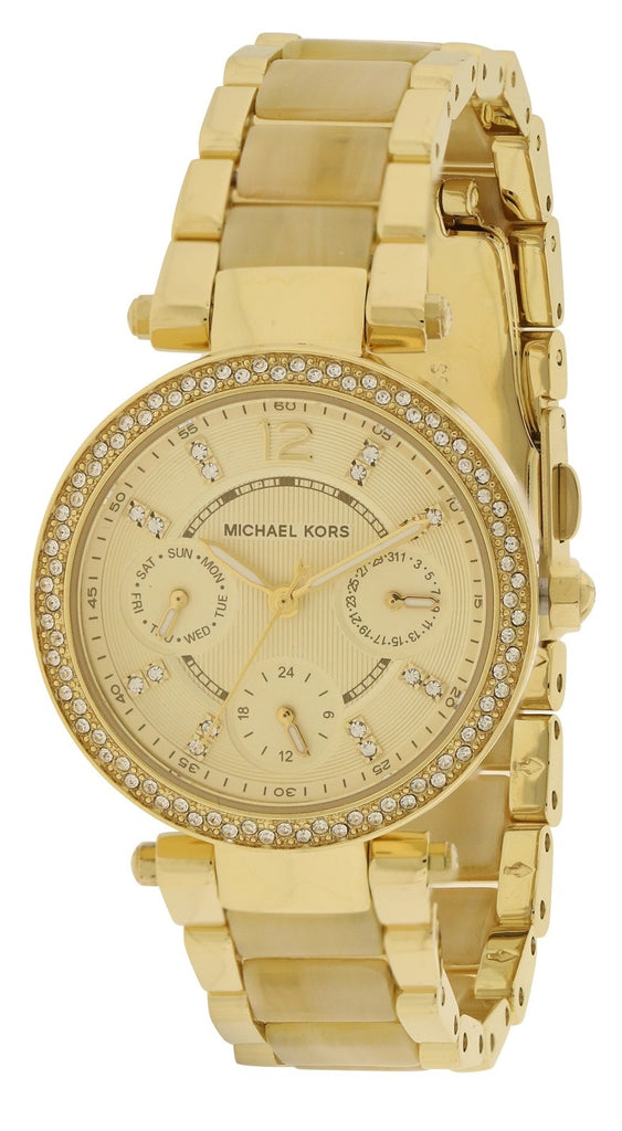 Michael Kors Mini Parker Crystal Bezel Ladies Watch