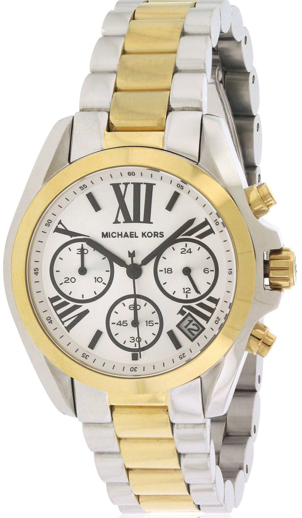 Michael Kors (Open Box) Mini Bradshaw Two-Tone Chronograph Ladies Watch MK5912