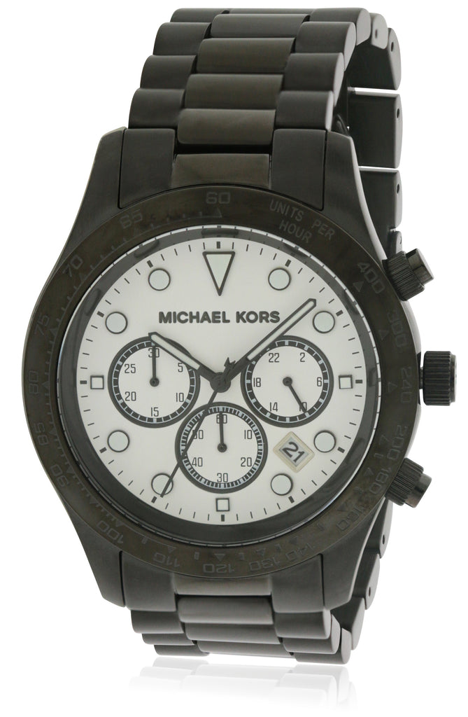 Michael Kors Layton Black Stainless Steel Chronograph Ladies Watch