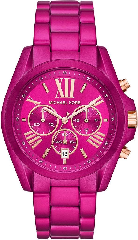 Michael Kors Exclusive Bradshaw Chronograph Pink Stainless Steel Ladies Watch