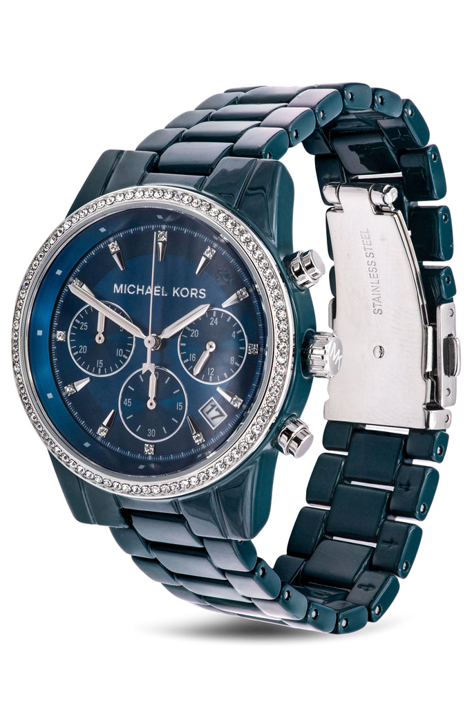 Michael Kors Bradshaw Chronograph Teal Ladies Watch