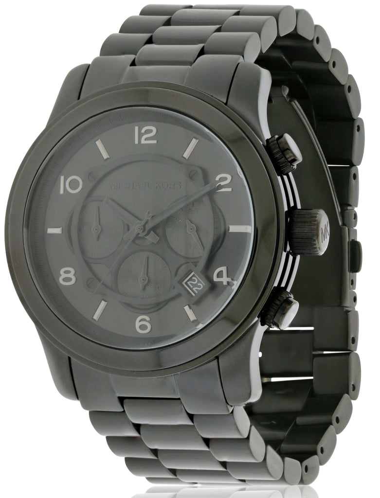 Michael Kors Black Ion Plated   Mens Watch