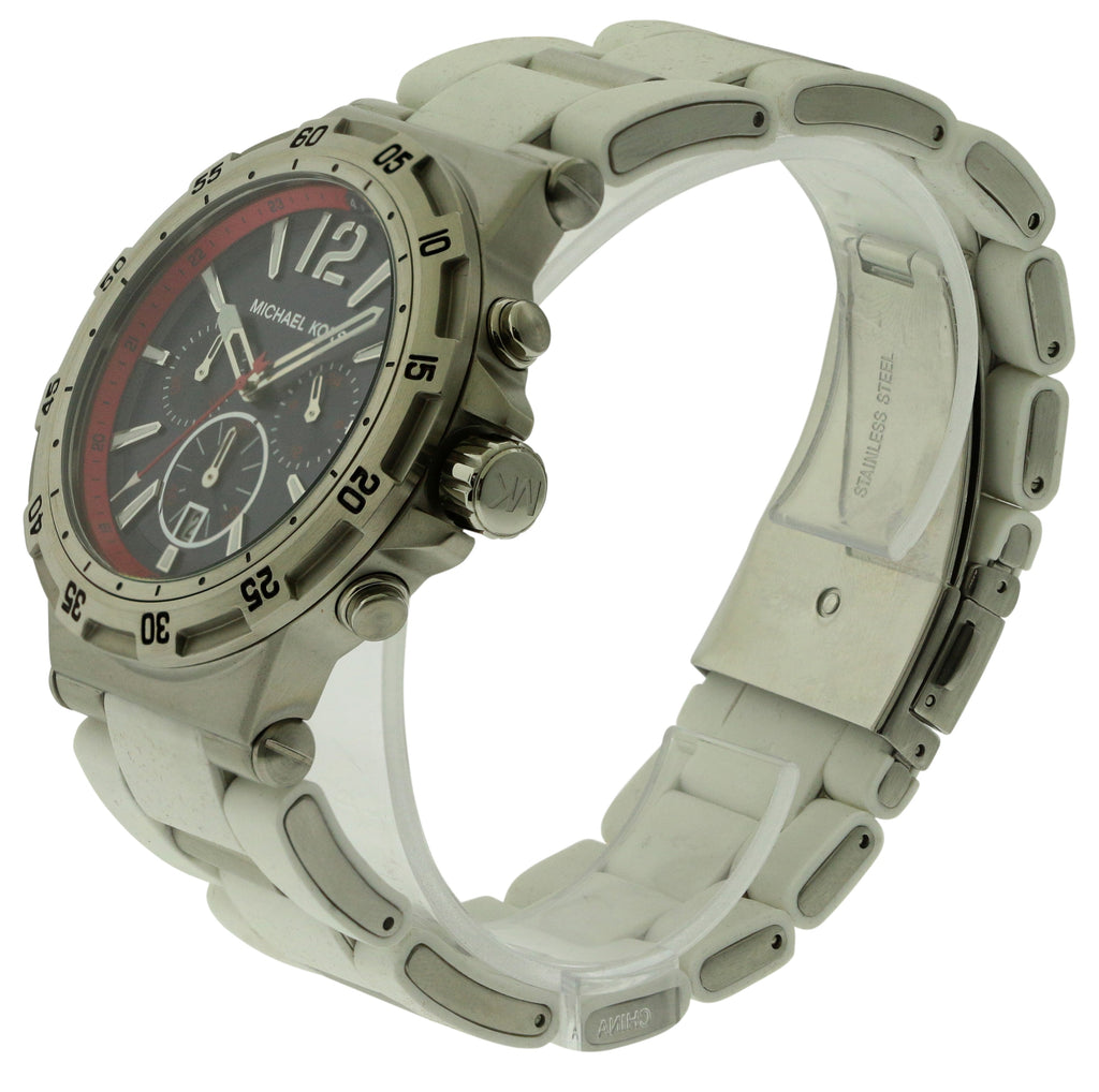 Michael Kors Silicone Wrapped Chronograph Mens Watch