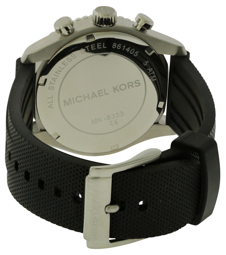 Michael Kors Richardson Silicone Chronograph Mens Watch