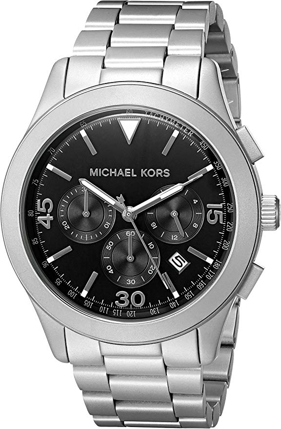Michael Kors Gareth Stainless Steel Chrono Mens Watch