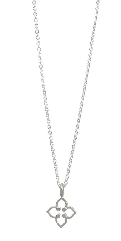 Dogeared Be Your Own Kind Of Beautiful Open Clover Sterling Silver Necklace -