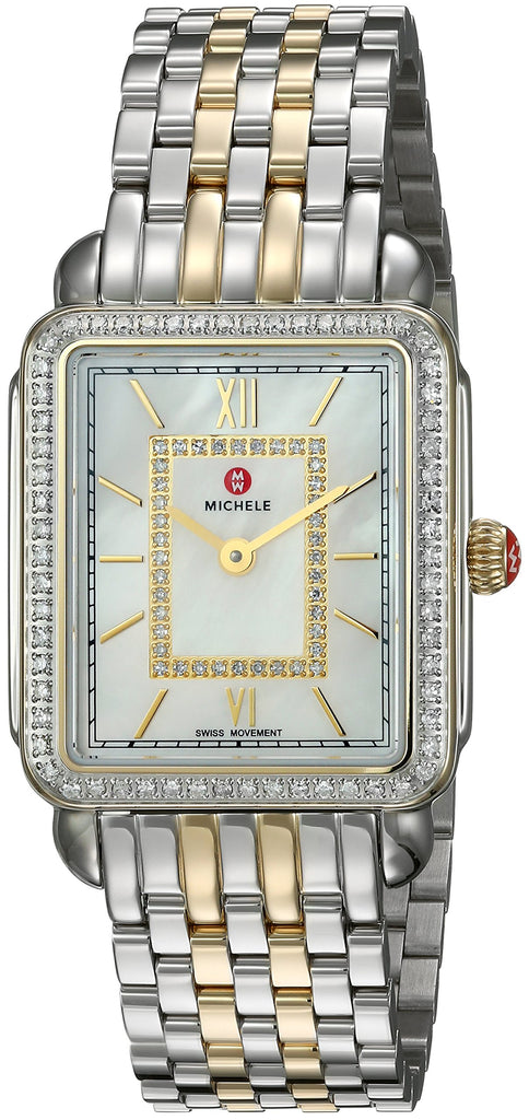 Michele Deco II Diamond Two-Tone Ladies Watch