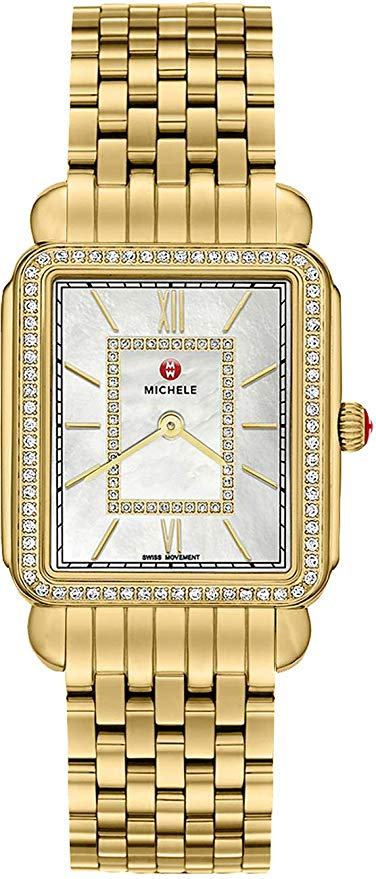 Michele Deco II Diamond Gold-Tone Ladies Watch