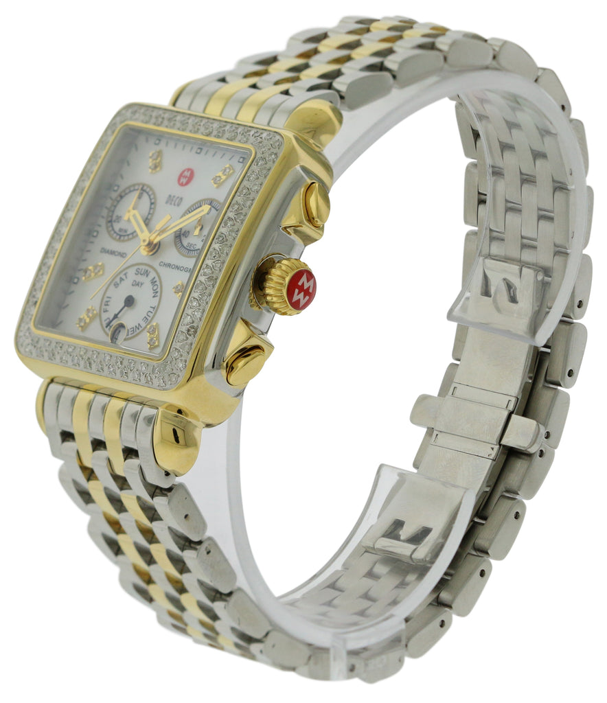 Michele Signature Deco Chronograph Diamond Ladies Watch