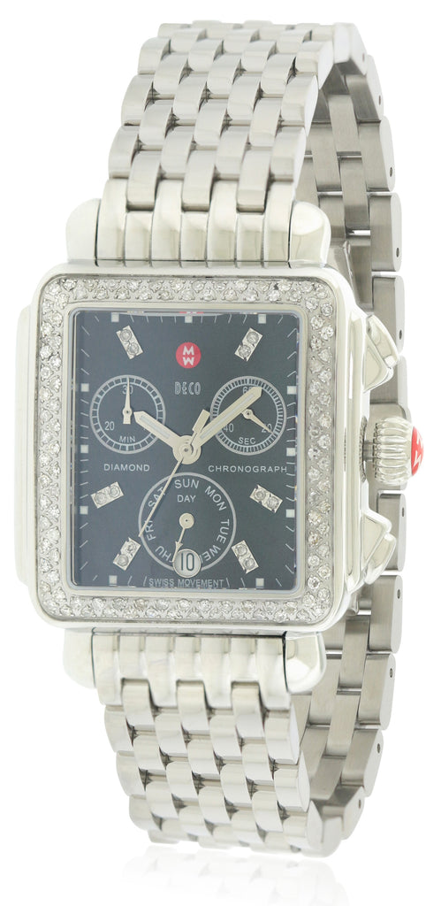 Michele Signature Deco Diamond Ladies Watch