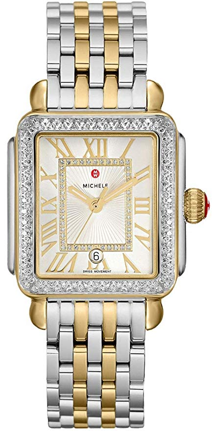 Michele Deco Madison Diamond Two-Tone Ladies Watch