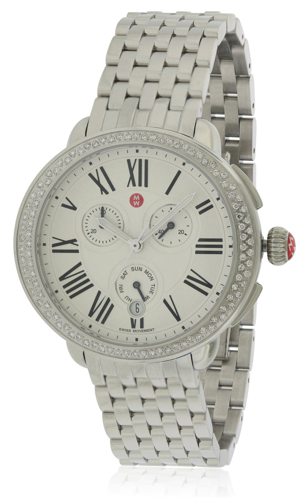 Michele Serein Diamond Chronograph Ladies Watch
